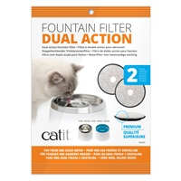 Catit Fresh & Clear Premium Dual-Action Replacement Filters – 2 pack