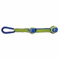 K9 Fitness by Zeus Double Tennis Ball Ballistic Nylon Twist Tug - 50.8 cm (20 in)