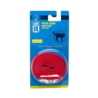 Catit Nylon Cat Leash, Red (1.2m/4ft)