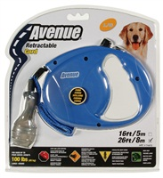 Avenue Dog Retractable Cord Leash, Blue, Large (8m/26ft)