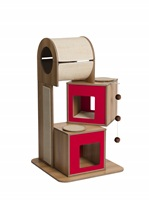 Vesper V-Tower - Red - 65 x 65 x 117.5 cm