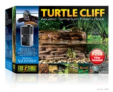 Exo Terra Turtle Cliff Aquatic Terrarium Filter + Rock Small