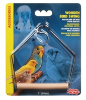 Living World Wooden Bird Swing Medium - 10 x 12.5 cm (4 x 5 in)