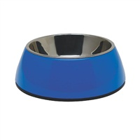Dogit 2-in-1 Dog Dish, Small-Blue. Holds 350 mL (11.8 fl oz)