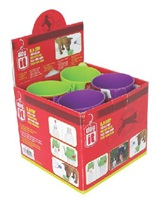Dogit Dog H20 Portable Drinking Cup, Display Box with 24 cups (12 ea green/purple)