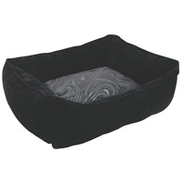 "Dogit Style Dog Rectangular Reversible Cuddle Bed-Retro, Black, Xsmall. 43.2cm x 35.6cm x 16.5cm (17"" x 14"" x 6.5"")."
