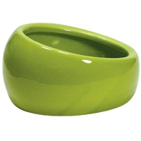 Living World Ergonomic Dish Large, 420 mL (14.78 oz) Green/Ceramic