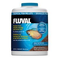 Fluval Tropical Fish Medium Sinking Pellets - 340 g (12 oz)