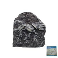 "Marina Decorative Fossils,   Triceratop, Glow in the Dark, 6.2"" x 2.6"" x 6.7"""