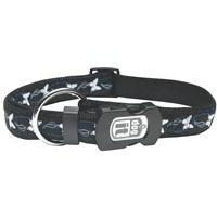 Dogit Style Nylon Ribbon Dog Collar-Butterfly, Blue, Large