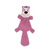 Dogit Stuffies Dog Toy – XL Flat Friend - Beaver - 49 cm (19.5 in)