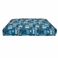 Dogit DreamWell Dog Mattress Bed - Rectangular - Blue Woof - 73 x 51 x 7.6 cm (29 x 20 x 3 in)