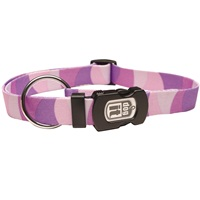 Dogit Style Adjustable Nylon Print Dog Collar-Wild Stripes,Purple,Medium