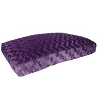 "Dogit Style Rectangular Mattress Dog Bed-Wild Animal, Purple, Medium. 100cm x 70cm x 11.5cm (39"" x 27.5"" x 4.5"")."