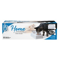 Catit Design Glass Diner, Black Base, 2 x 6.7 fl oz