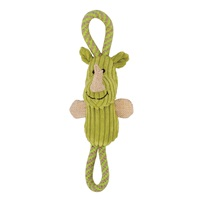 Zeus Mojo Naturals Figure-8 Rope Tug - Lion & Rhino - Assorted - 22 cm (8.5 in)