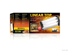 "Exo Terra Linear Top - Small - 17.7""- 45 cm - holds 2 x 14 W (15""/38 cm) Linear Tubes"