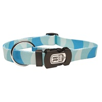 Dogit Style Adjustable Nylon Print Dog Collar-Wild Stripes, Blue, Large