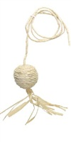 Catit Cat Eco Terra Toys with Catnip, Raffia Ball w/ String