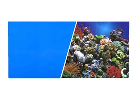 "Marina Double Sided Aquarium Background, Reef Aquarium/Solid Royal Blue, 45.7 cm X 7.6 m (18"" X25 ft)"