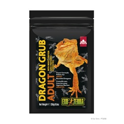 Exo Terra Dragon Grub Insect Formula Pellets for Adult Bearded Dragons - 250 g (8.8 oz)