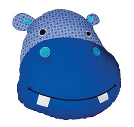 "Dogit Luvz Patchwork ""Faces"" Cotton Dog Toy, Hippo Face (23cm/9"")"