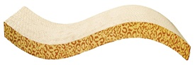 Catit Style Patterned Cat Scratcher with catnip - Animal, S-shape