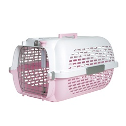 Dogit Voyageur Dog Carrier- Pink/White, Small (48.3 cm L x 32.6 cm W x 28 cm H / 19in x 12.8in x 11in)