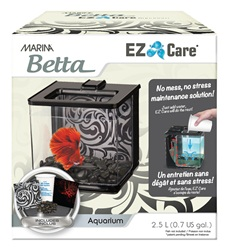 Marina Betta EZ Care Aquarium - Black - 2.5 L (0.7 US Gal)