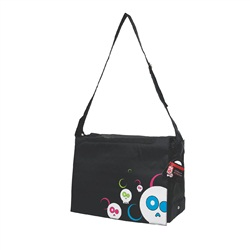 Dogit Style Nylon Messenger Dog Carry Bag, Da Face, Black (for small dogs up to 9kg/20lbs)