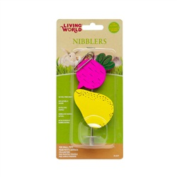 Living World® Nibblers Beet & Pear on Stick Wood Chew