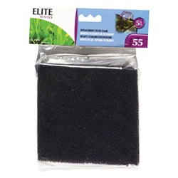 Elite Hush 55 Power Filter Biological Foam - 5 pieces