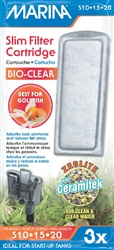 Marina Bio Clear Cartridge for Slim Filters, 3 pack