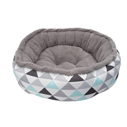 Dogit DreamWell Dog Donut Bed - Geometric - Large - 76 cm dia (30 in)