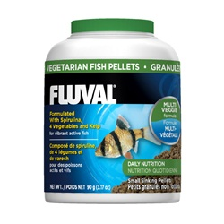 Fluval Vegetarian Small Sinking  Pellets, 90 g (3.17 oz