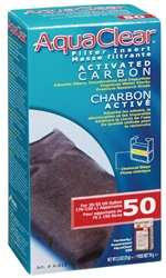 AquaClear 50 Activated Carbon Filter Insert, 70 g (2.5 oz)