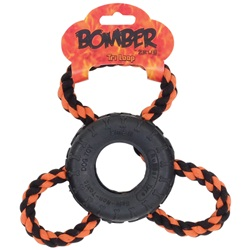 Zeus Bomber Tri Loop Rubber Dog Toy
