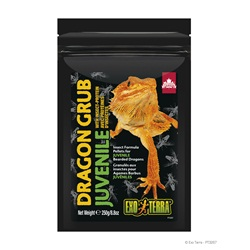 Exo Terra Dragon Grub Insect Formula Pellets for Juvenile Bearded Dragons - 250 g (8.8 oz)