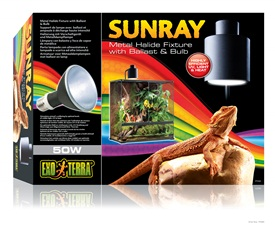 SunRay Metal Halide Fixture With Ballast & Bulb - 50W