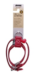 Avenue Petite Faux Croc Harness-Red, Small
