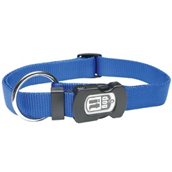 Dogit Single Ply Adjustable Nylon Dog Collar with Snap- Blue, Large
