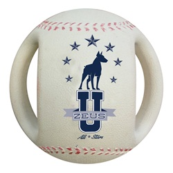 Zeus Varsity Baseball Dog Toy - 4.5""
