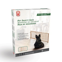 "Dogit Pet Safety Gate with Pet Door - 71 cm - 111.5 cm W x 45.5 cm H (28"" - 44"" W x 18"" H)"