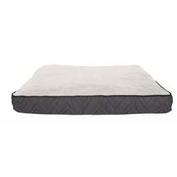 Dogit DreamWell Dog Mattress Bed - Rectangular - Gray/White - 73 x 51 x 7.6 cm (29 x 20 x 3 in)