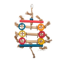 HARI Rustic Treasures Bird Toy Bamboo Ring Abacus