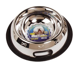 Dogit Stainless Steel Non Spill Dog Dish, Medium, 710ml (24 fl oz)
