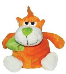 "Dogit Luvz Barnyard Friends Plush Dog Toy,Orange Monkey (15cm/6"")"
