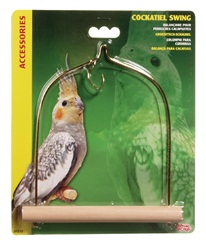 "Living World Bird Swing with Wooden Perch For Cockatiels 14 x 17.5 cm (5.5"" x 7"")"