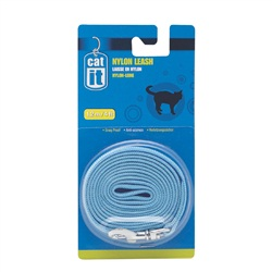 Catit Nylon Cat Leash, Blue (1.2m/4ft)