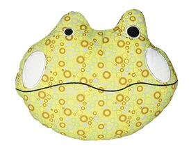 "Dogit Luvz Patchwork ""Faces"" Cotton Dog Toy, Frog Face (23cm/9"")"